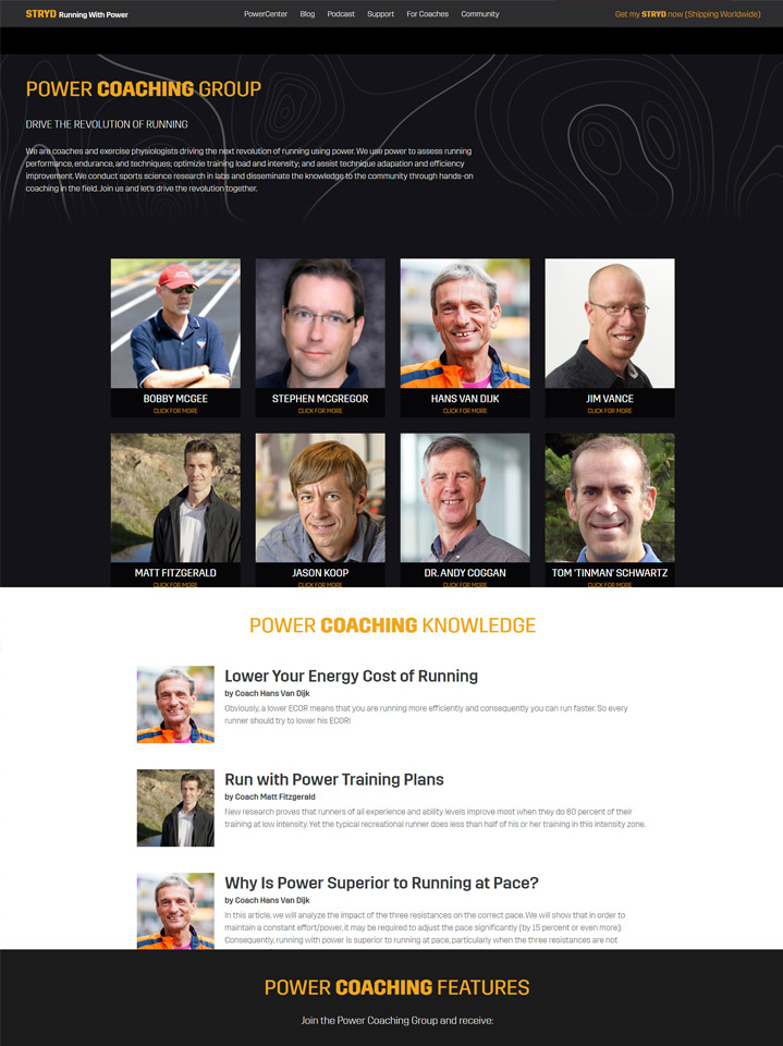 Stryd Power Coaching Group